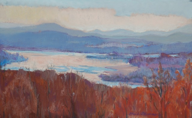 Gail Thomas, View From Olana, Pastel, $200. Sold