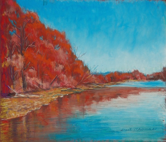 Gail Thomas, Canadice Lake Colors,  Pastel , $200.