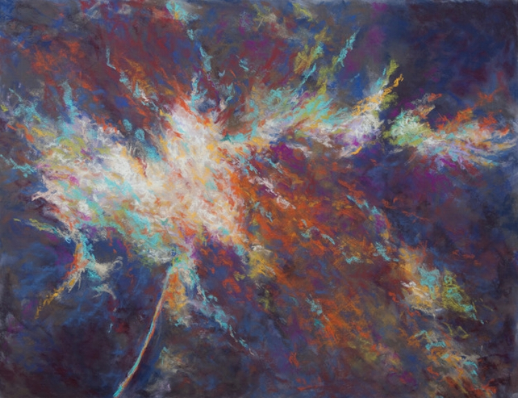 Robin McCondichie,  Refracting,  Soft Pastel, $625.
