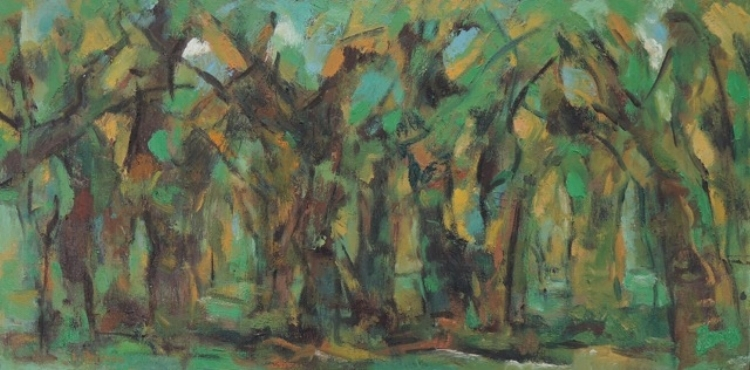 Lanna Pejovic,  Into the Wood,  Oil on Canvas,, $750