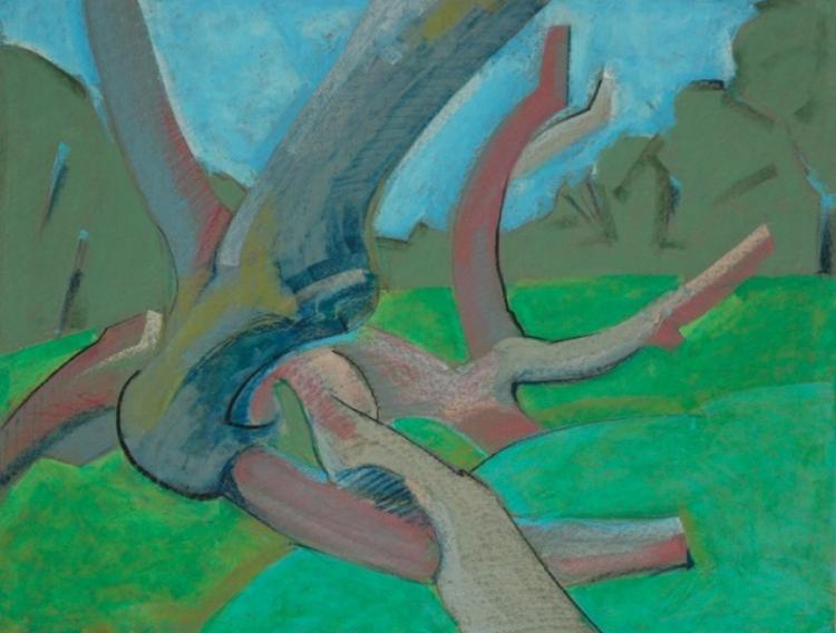 James Thomas,  Tree of Life Study #4,  Oil pastel, $500