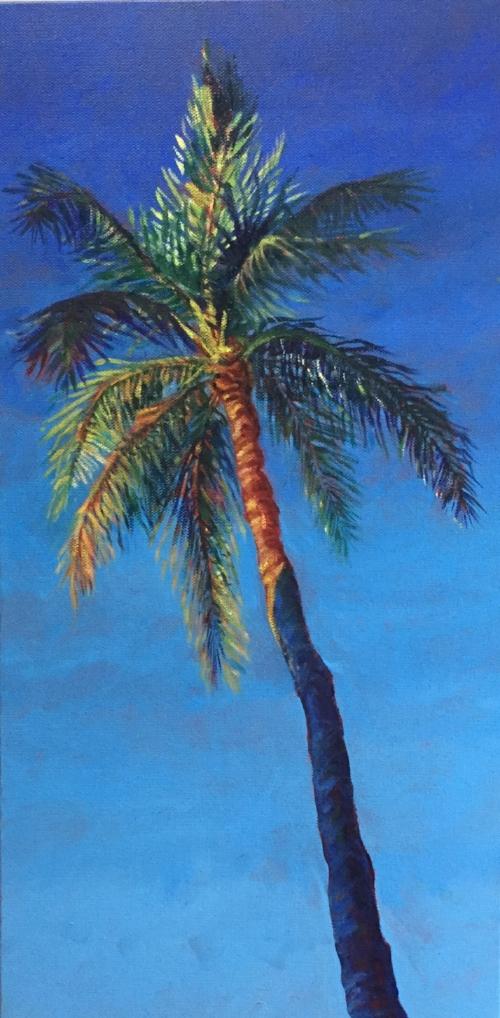 "Denise Heischman, Florida Fireworks, Acrylic on Canvas, 10""x20"", $850"