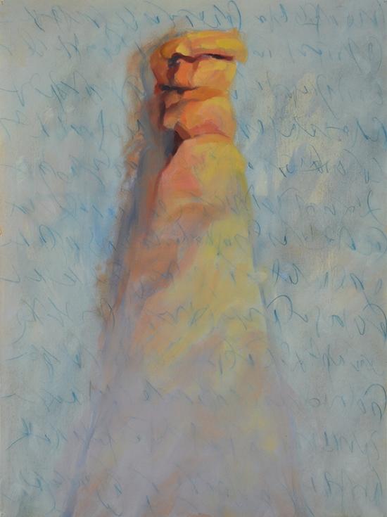 Jean Stephens,  Sisters,  Oil on Paper, $1800