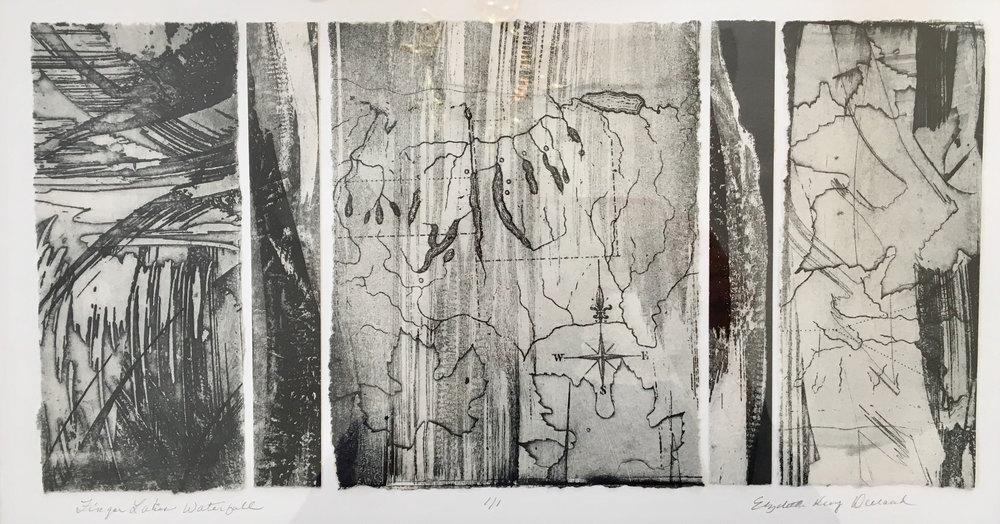 Fingerlakes Waterfall by Elizabeth Durand