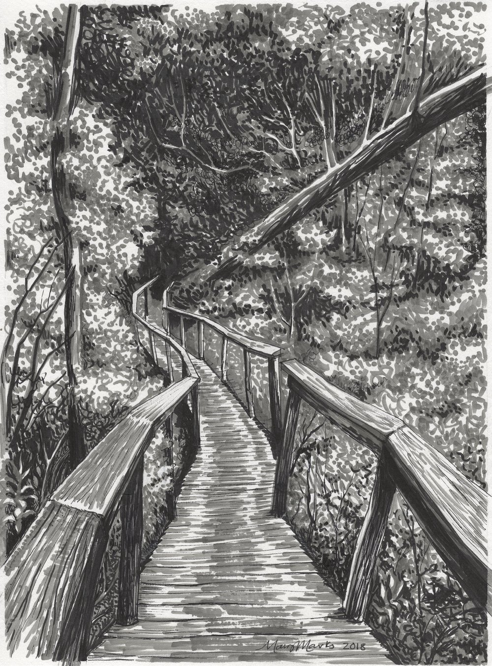 Linear Park by Mary Marks