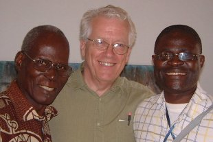 Paul G. Humber with two Vili friends