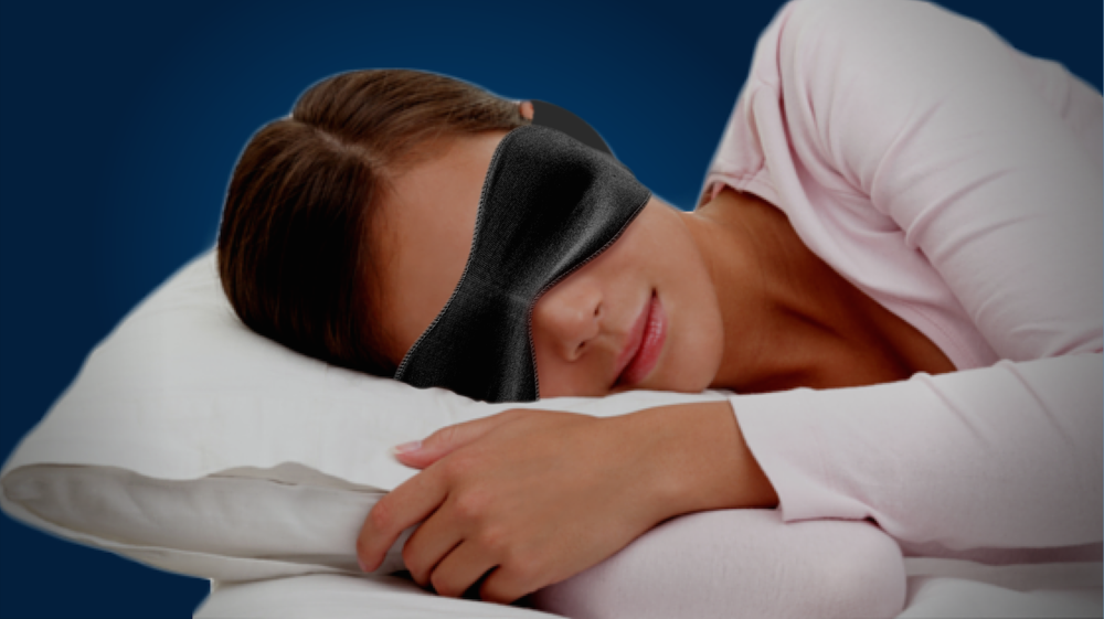 To get a good night's sleep keep your bedroom completely dark using a sleep-mask or black-out curtains.