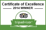 June 5 2014. We were #1 again! For the 3rd year in a row Costa Rica Yoga Spa has been recognized by TripAdvisor members as consistently achieving outstanding traveller reviews on TripAdvisor amongst all qualifying businesses worldwide. Recipients of the Certificate of Excellence award represent the upper echelon of businesses listed on the TripAdvisor website.