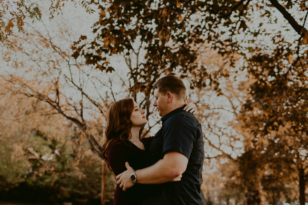 Fall wedding in downtown Omaha