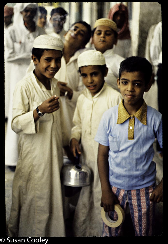 Saudi cool kids at the market.
