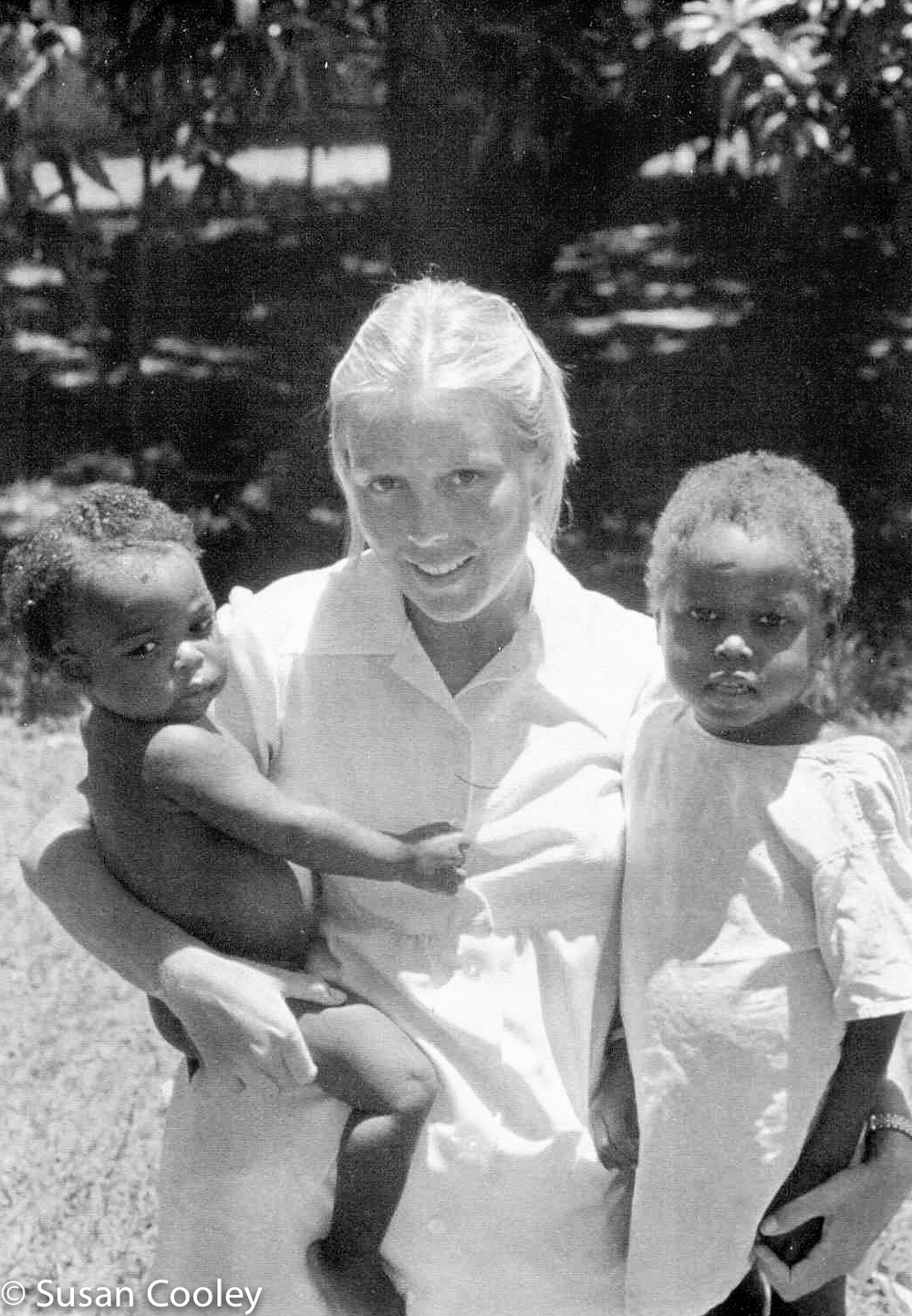 Susan with patients, 1974.