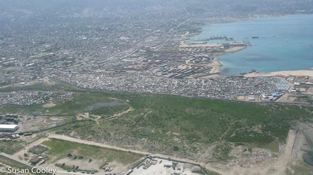 Aerial view, Port au Prince, 2013.