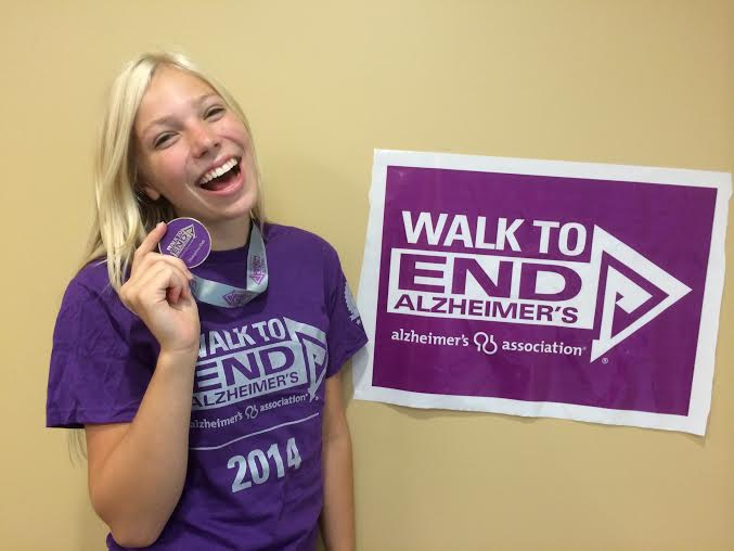 Alicia at the 2014 Walk to End Alzheimer's