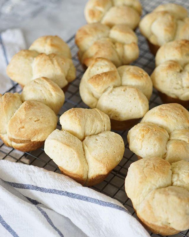 Yesterday's potato clover rolls, recipe from @food52. . . #food #feedfeed #f52grams #eeeeeats #baking