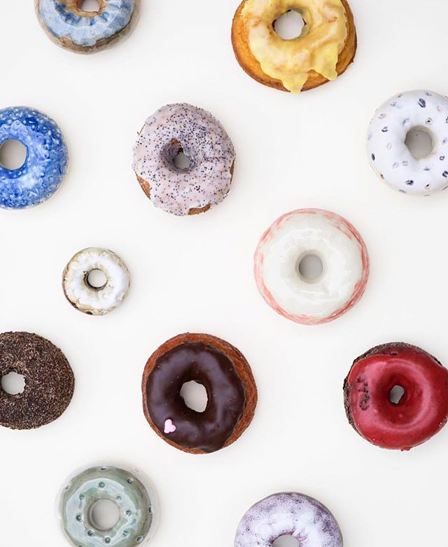 Can't believe I'm almost done with my time at @dynamodonut. I've had so much fun growing this vibrant little business. One more week of 🍩🍩🍩 for me and I'm on to my next adventure full of 🍫🍰! (PS, some of the donuts pictured are ceramic!) . . #food #eeeeeats #donuts