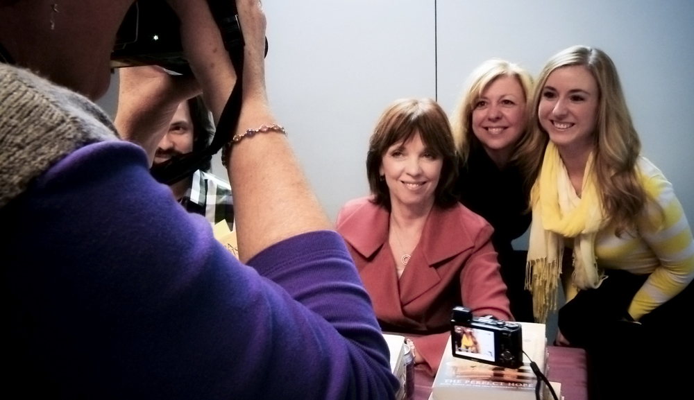 Nora Roberts with fans