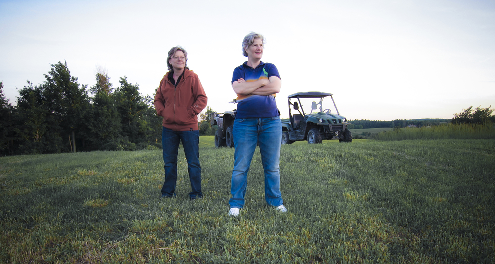 On the farm with Len Barot and her partner Lee Ligon