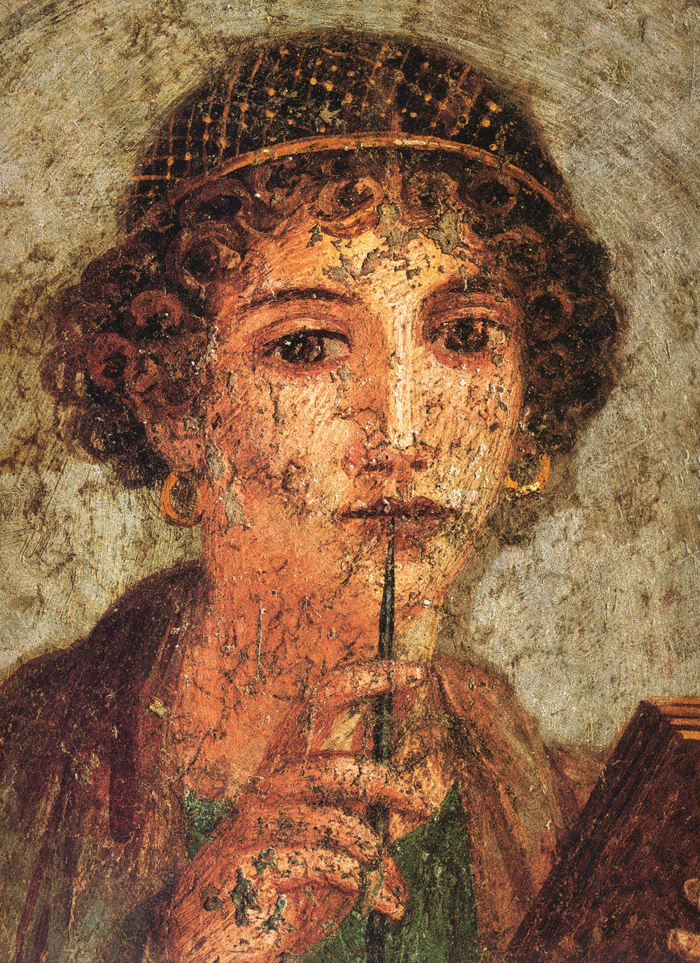 From a Pompeiian fresco popularly said to portray Sappho