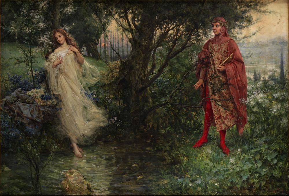 Dante e Beatrice , Salvatore Postiglione