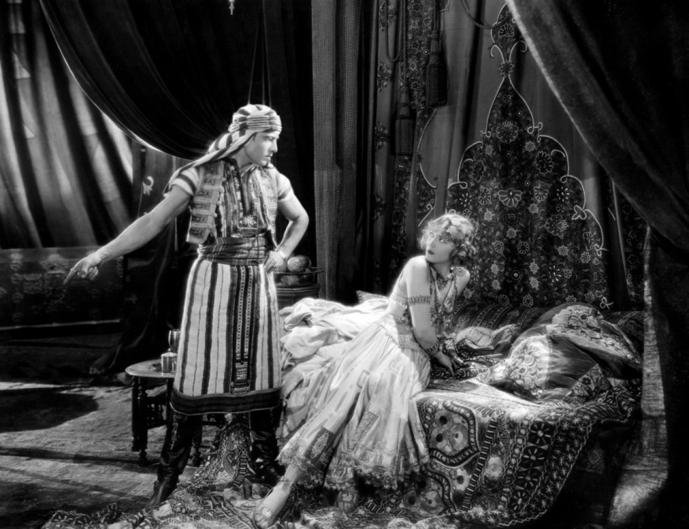 From the 1921 adaptation of  The Sheik  with Rudolph Valentino and Agnes Ayres