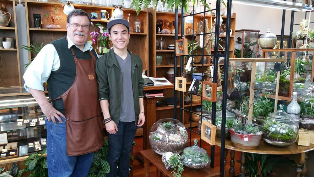 My son, James (age 16), and I are partners in our little shop.