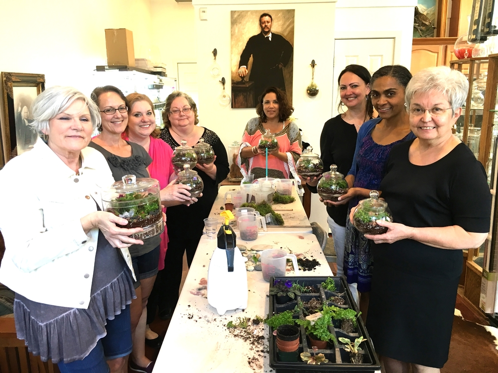 This team from Northwest Natural Gas had a great time planting their own terrariums.