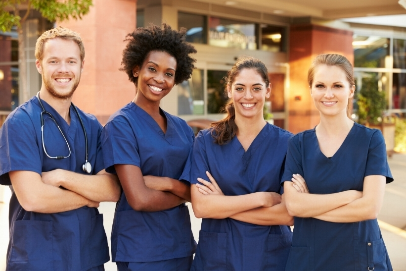 Stock photo of models dressed up to look like doctors, nurse practitioners & nurses. The real deals look more like the rest of us, but they truly are everyday heroes.