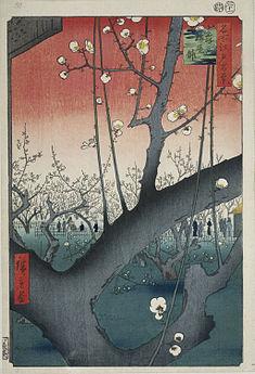 The Plum Garden in Kameido,Utagawa Hiroshige
