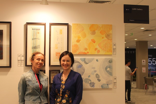 With the fabulous Ludo Gallery Director Brenda T. Dwyer!