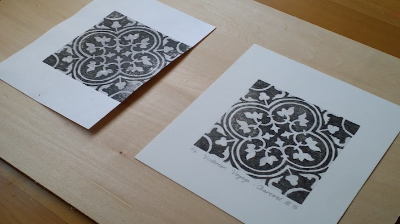 Left: A print that has been left to dry naturally. Right: A print that has been pressed under weights.