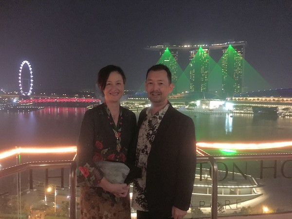 And what's the best way to cap off a night? A drink at the  Fullerton Hotel  Roof Bar during the  Marina Bay Sands Light and Water Show .