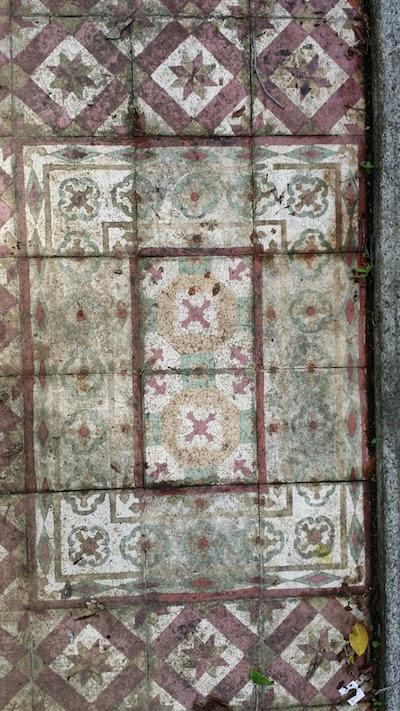 Unusual floor tiles.