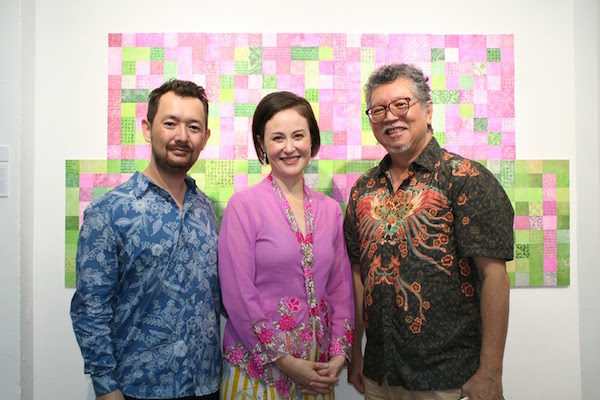 My husband and tool-sharpening expert, myself and Mr. Richard Tan