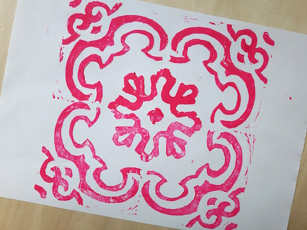 And here's the first print in hot pink - love it!