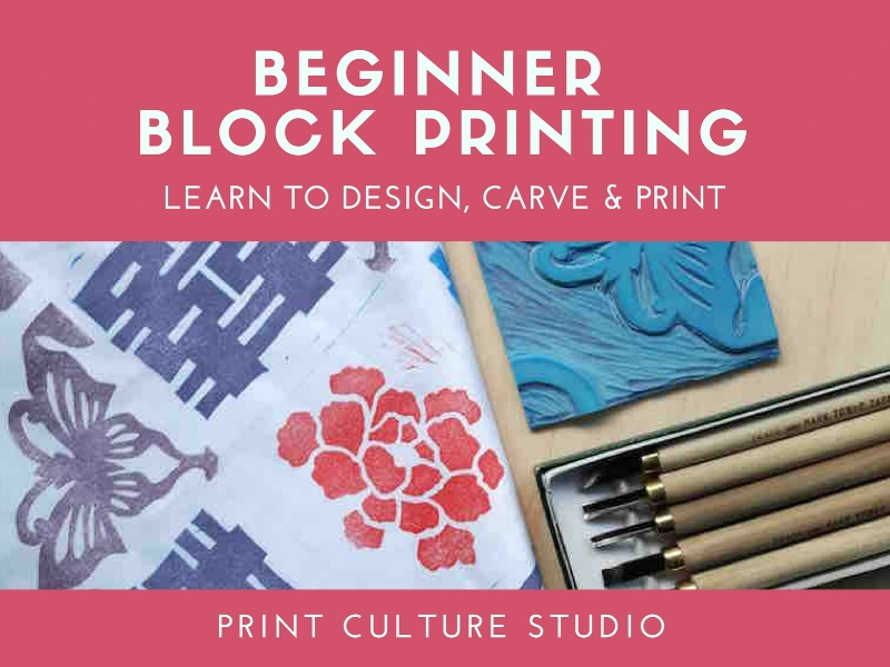 Block printing and lino carving workshop in Singapore