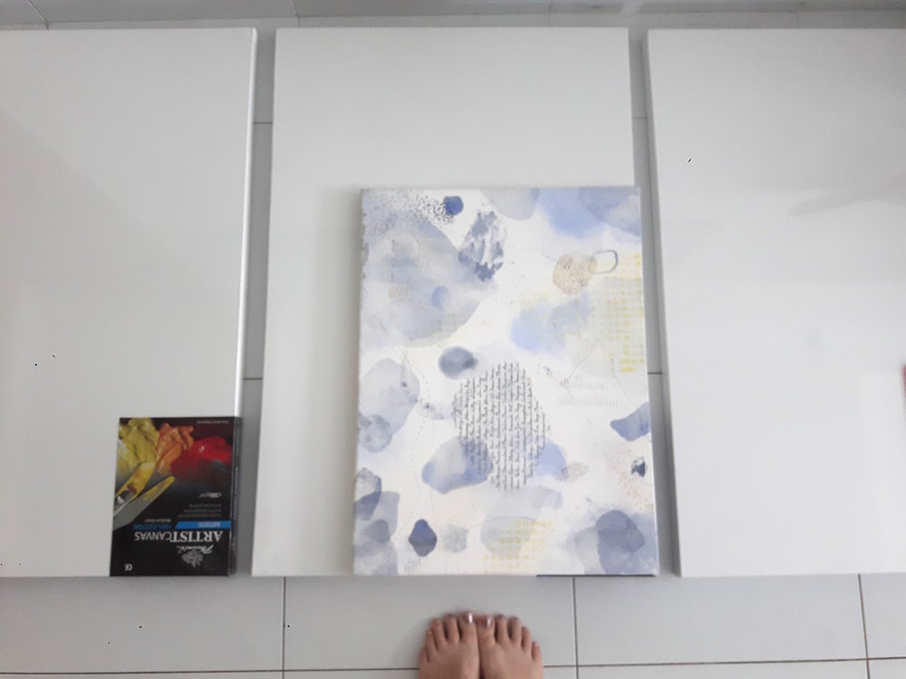 "Blue artwork is 24"" x 16"", or  40.5cm x 61cm."