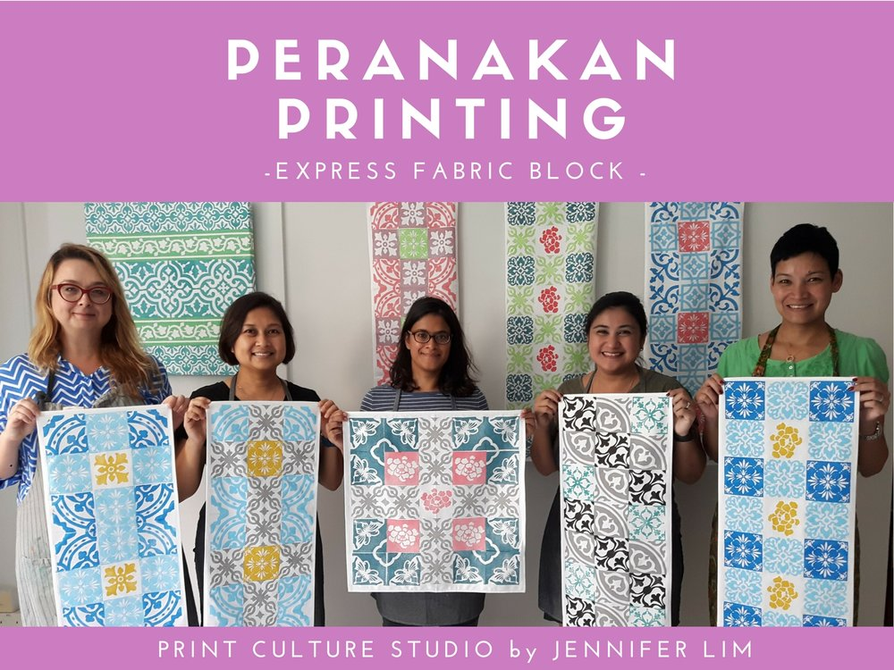 Peranakan art workshop in Singapore