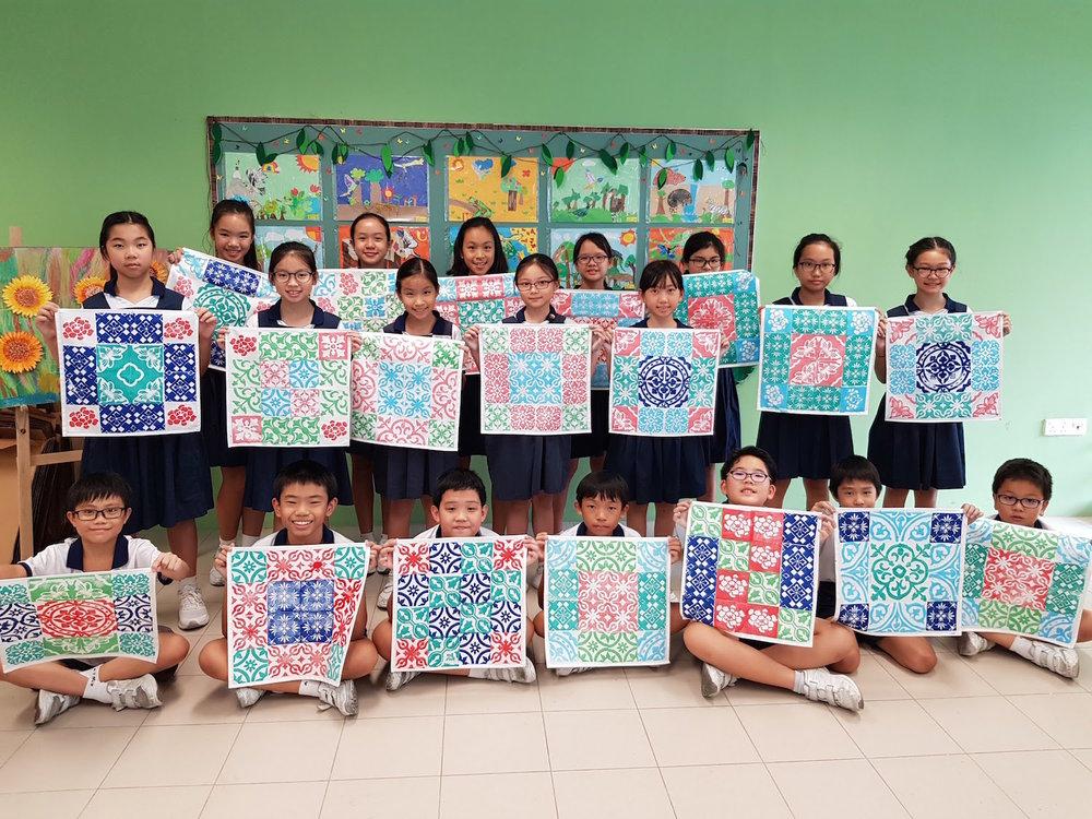 Peranakan art workshops for Schools