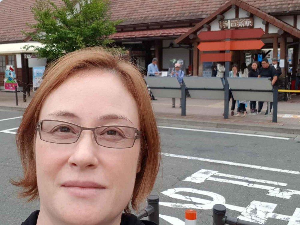 Arriving at Kawaguchi Station, Yamanashi Prefecture