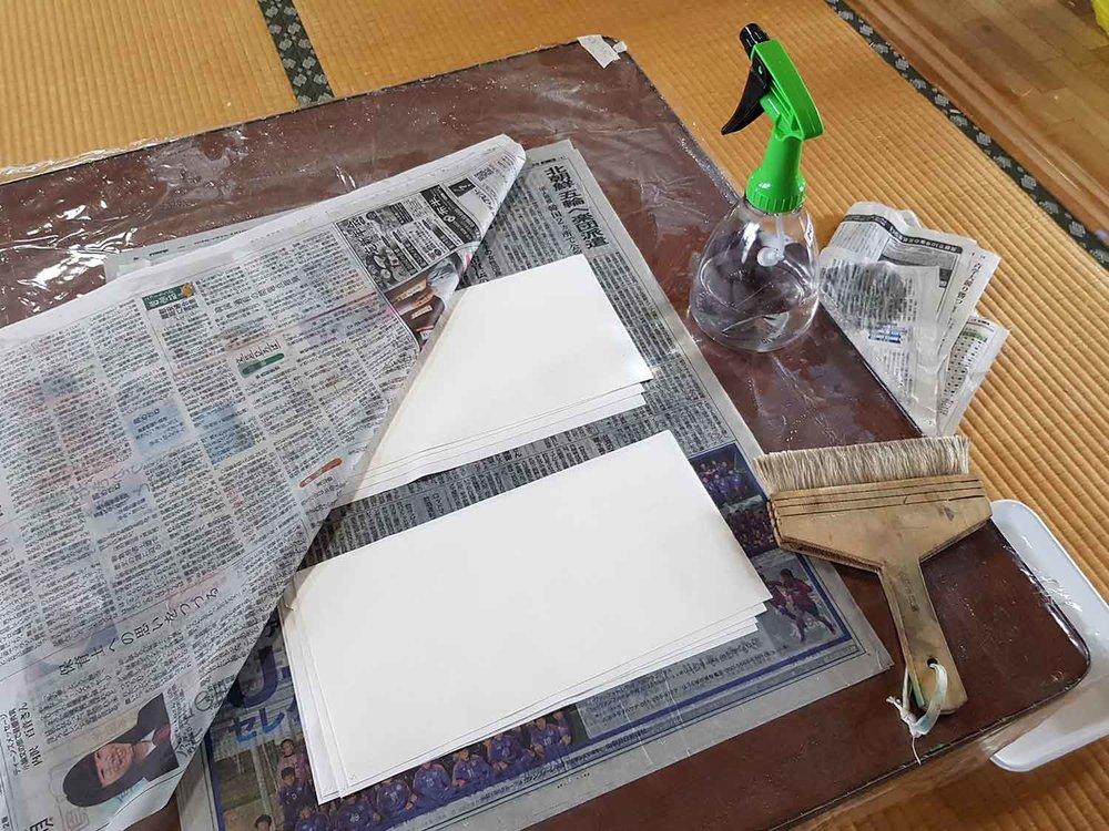Dampening paper for printing