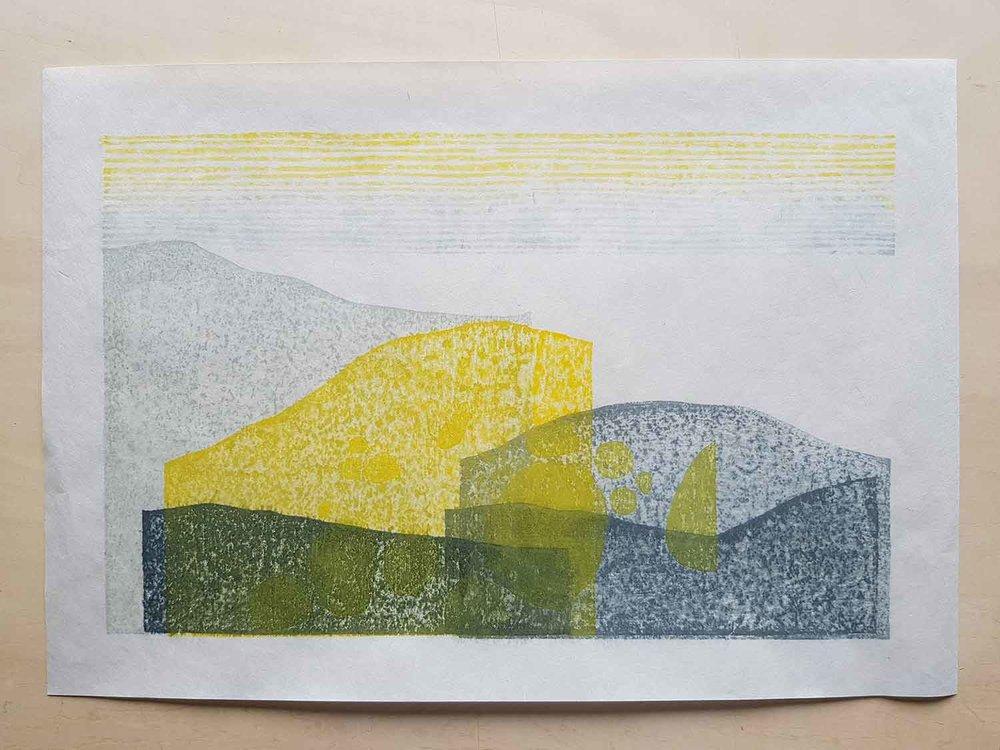 An artist proof of 'Kawaguchi Mountains'