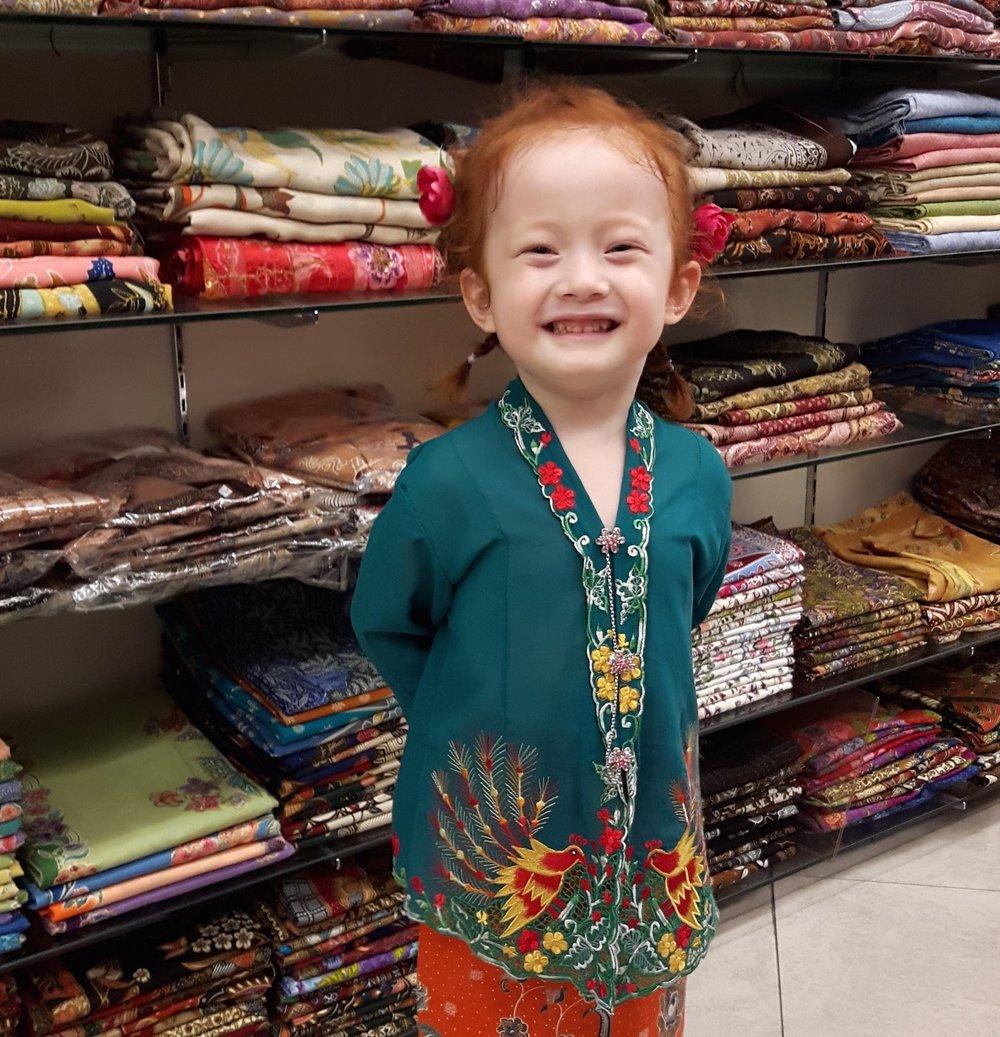 Childrens sarong kebaya in Singapore