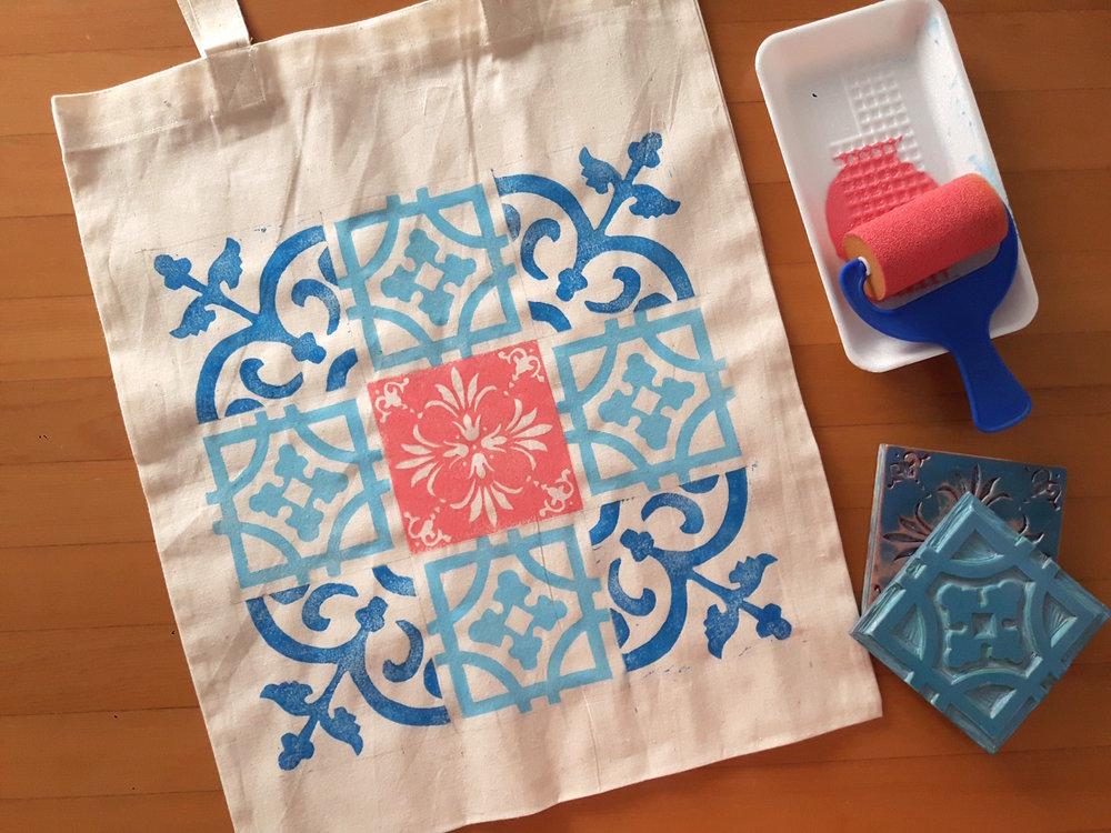 Peranakan Printing Workshop: Decorative Tote Bag