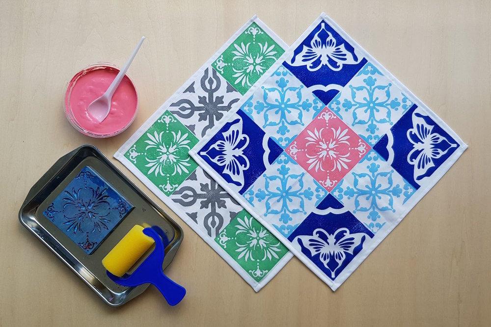 Peranakan Printing Workshop: Petite Display Mat