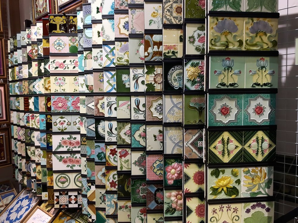 Amazing range of tiles available at the Peranakan Tiles Gallery