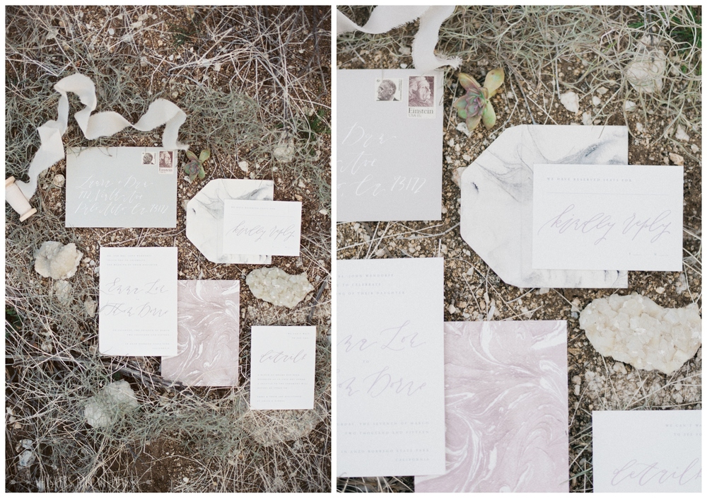 Neutral invitation suite | Marble invitations by Type and Title | Whiskers and Willow Photography