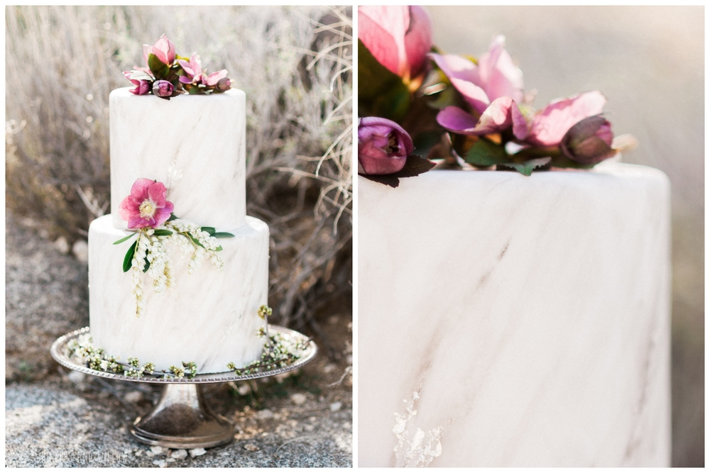 Pastel desert wedding cake | Bohemian | Marbling | Purple | Wedding cake by Sweet Lydia's | Whiskers and Willow Photography