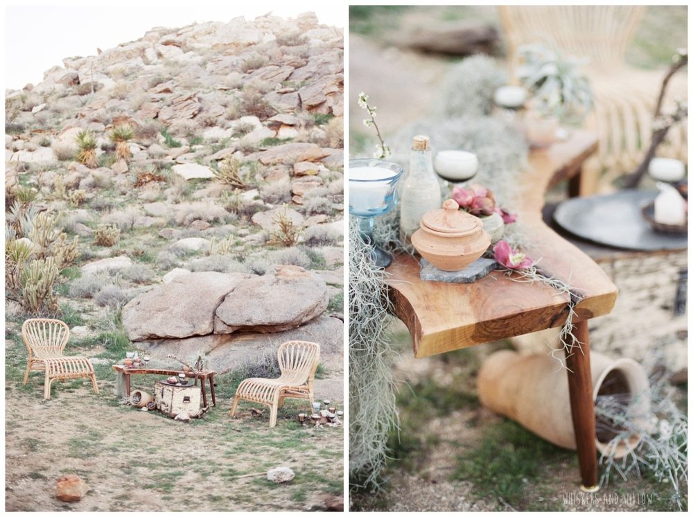 Pastel desert wedding | Lounge seating | Whiskers and Willow Photography