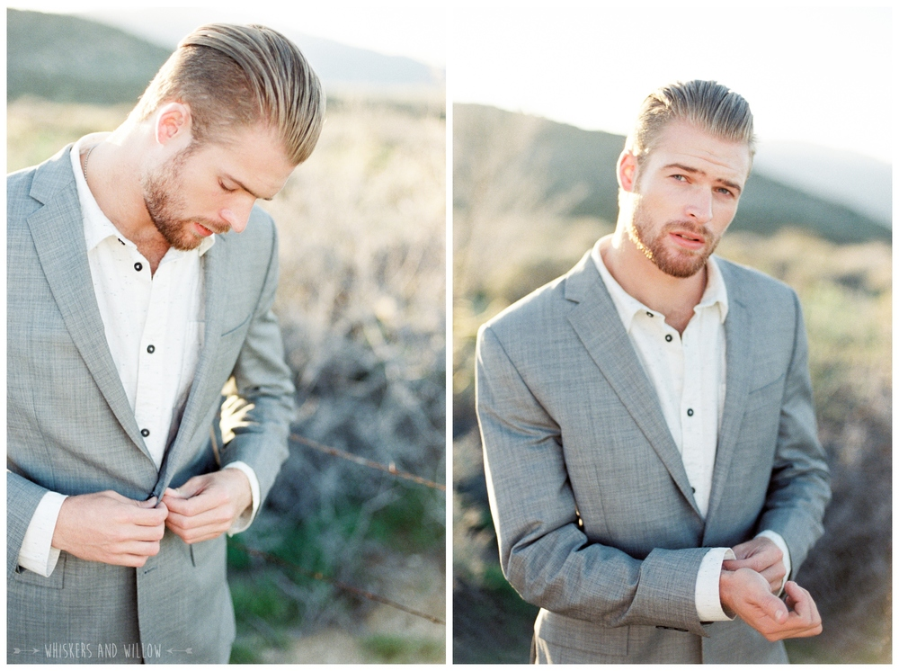 Pastel desert wedding | Groom inspiration | Fine art photography |  Whiskers and Willow Photography