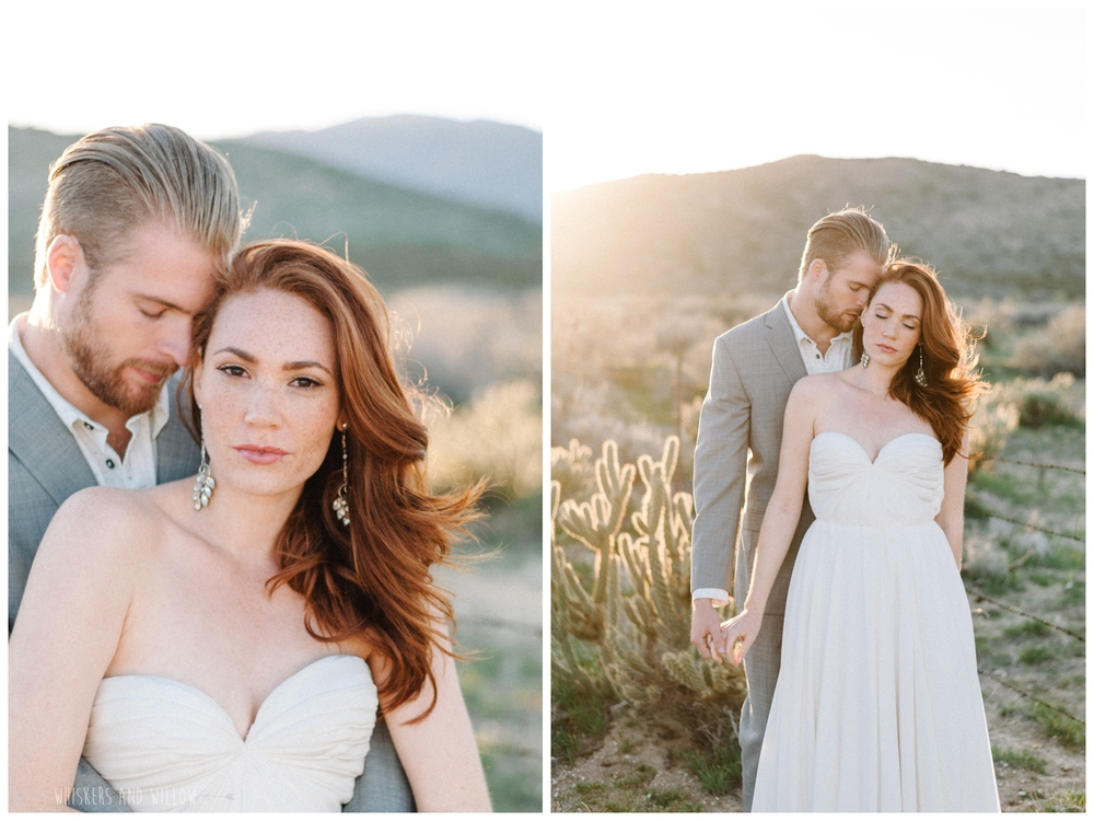 Pastel desert wedding | Fine art photography | Whiskers and Willow Photography